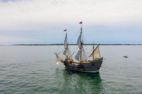 Credit Plimoth Plantation Mayflower II 7 29 1309 1