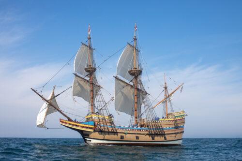 Credit Plimoth Plantation Mayflower II 7 30 538