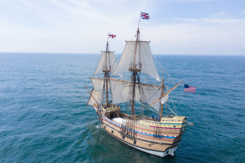 Credit Plimoth Plantation Mayflower II 7 30 664