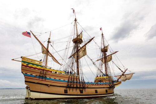 Credit Plimoth Plantation Mayflower II 7 31 69