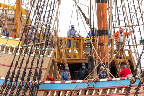Credit Plimoth Plantation Mayflower II 7 31 75 1