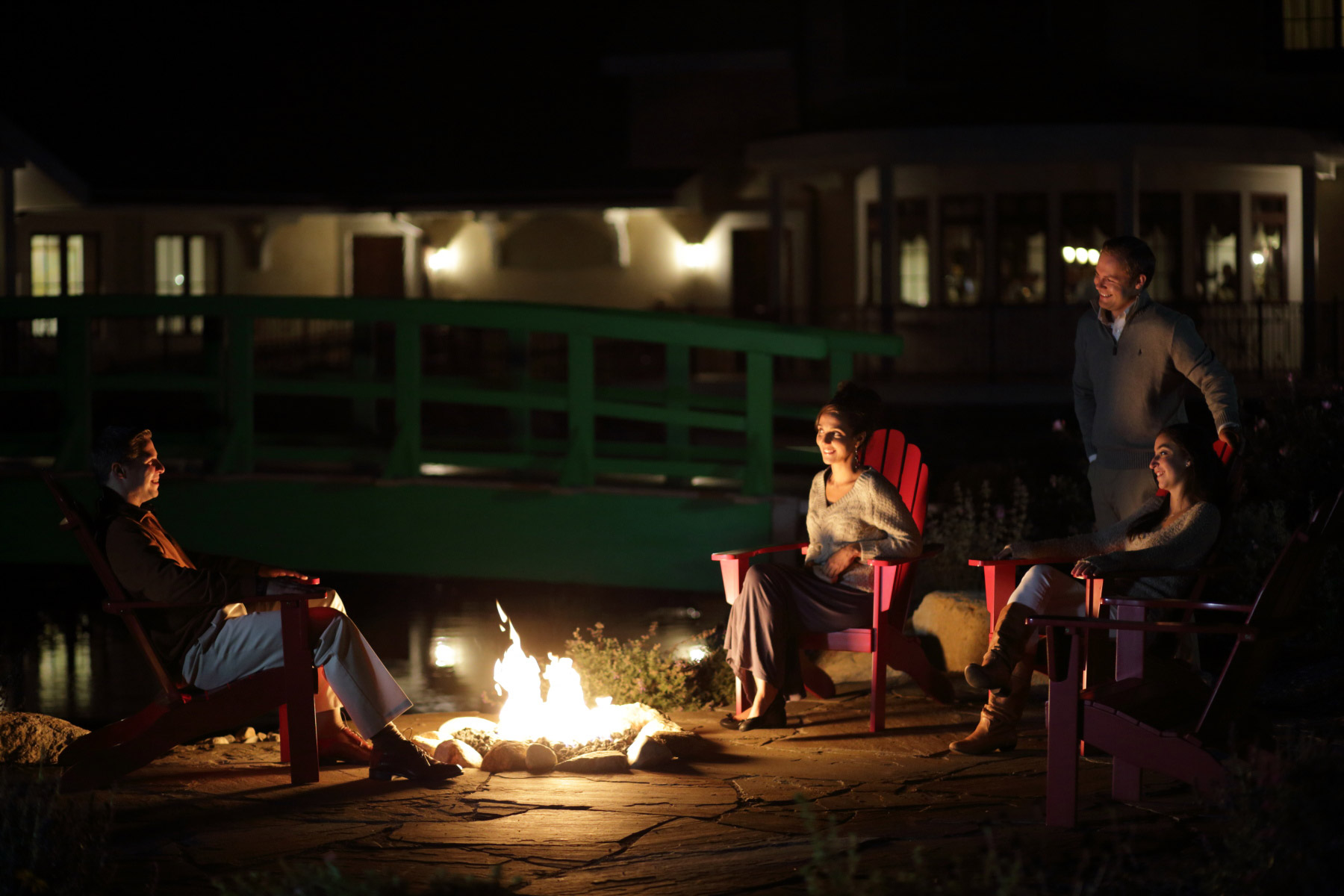 Making memories around the fire