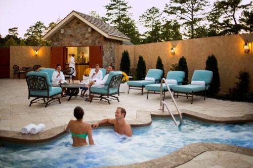Relaxing Jacuzzi at Mirbeau Inn & Spa