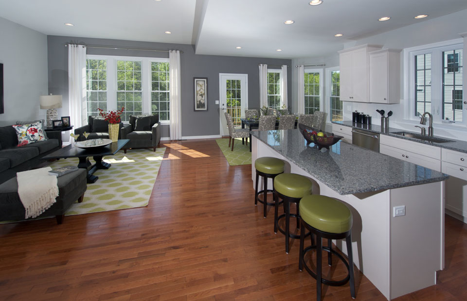 Pulte Abbeyville Kitchen and Gathering Room