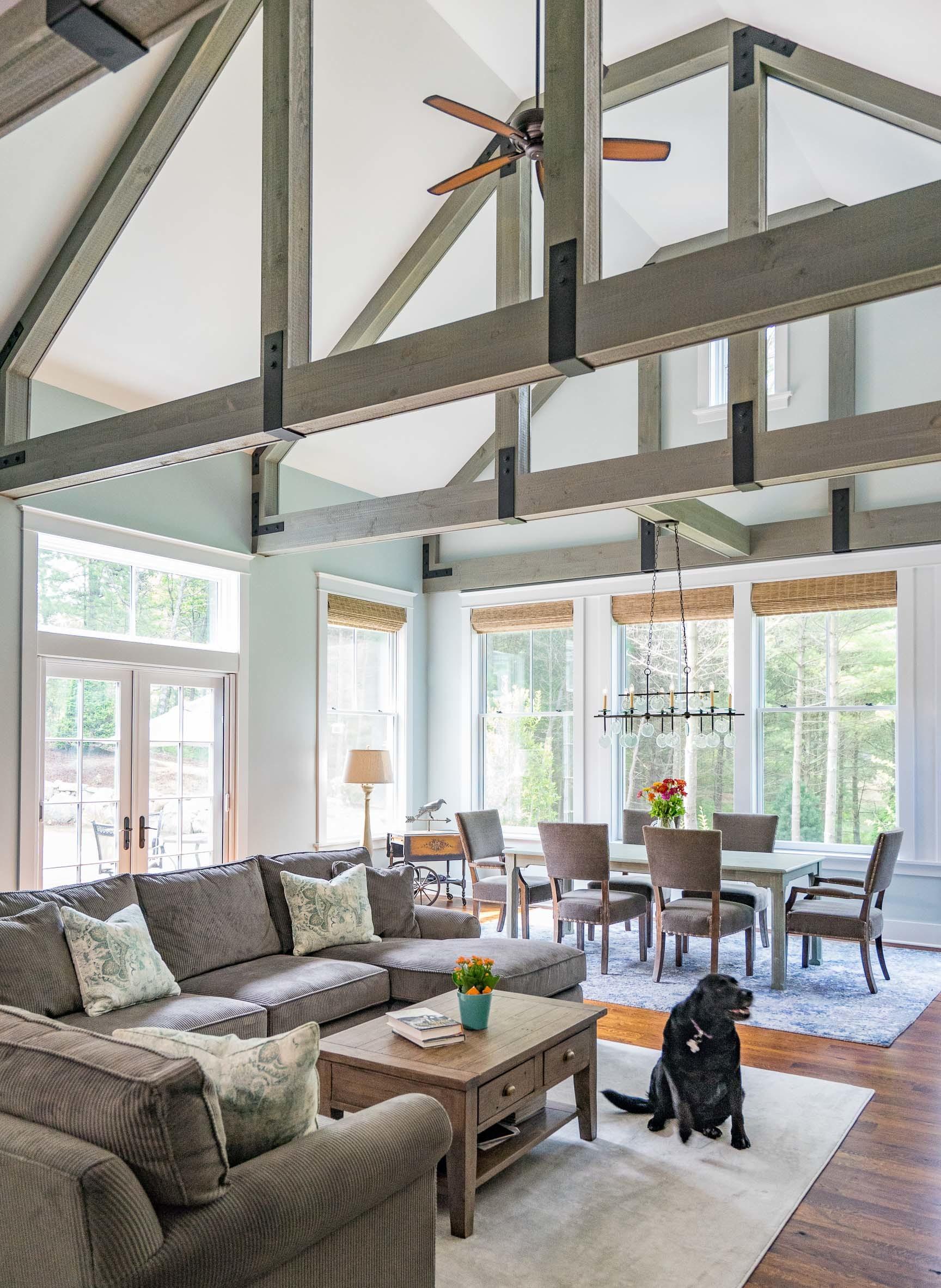 Kistler & Knapp Custom Home Ryecroft Great Room & Best Friend