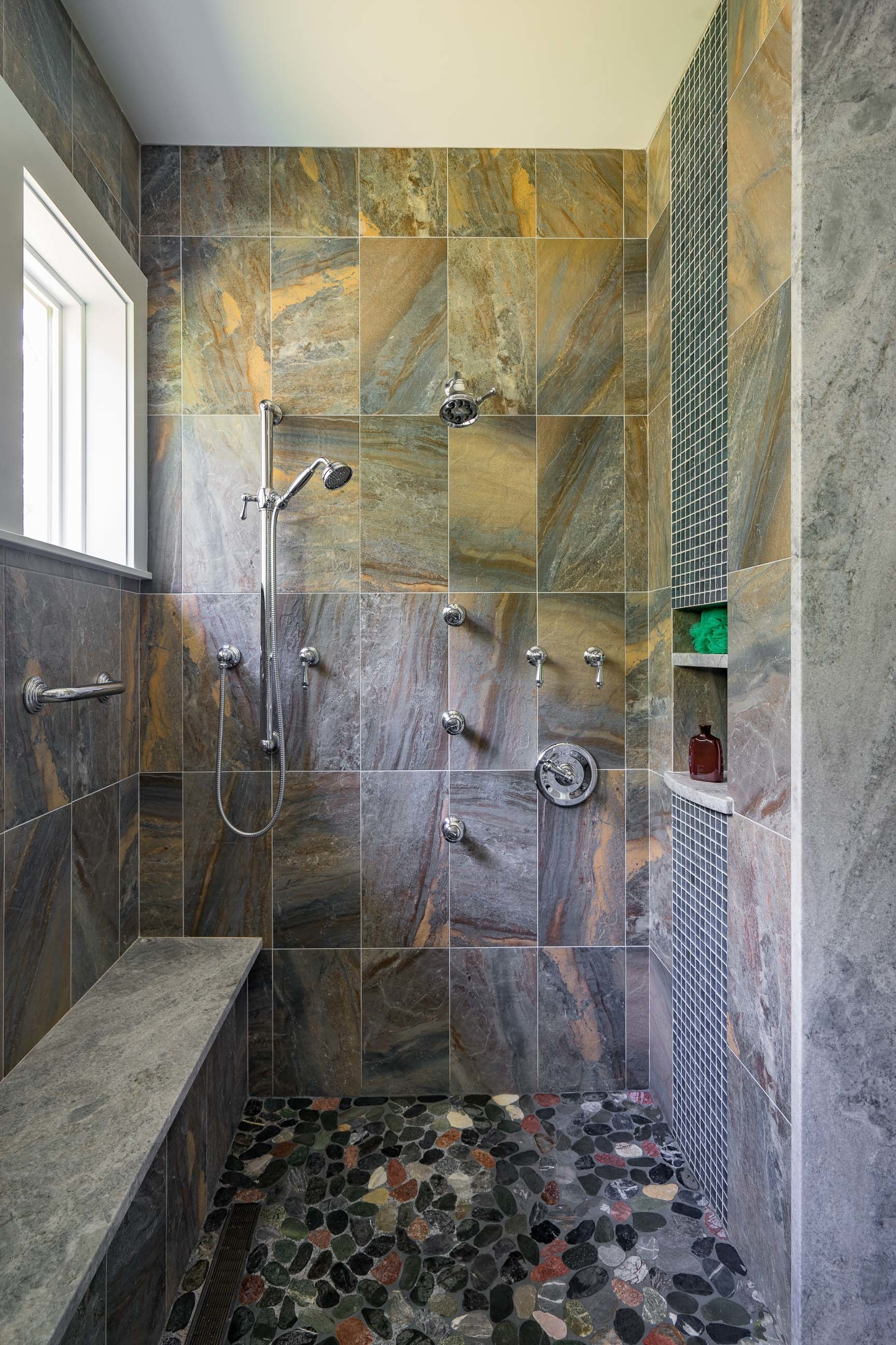 Kistler & Knapp Custom Home Ryecroft Steam Shower