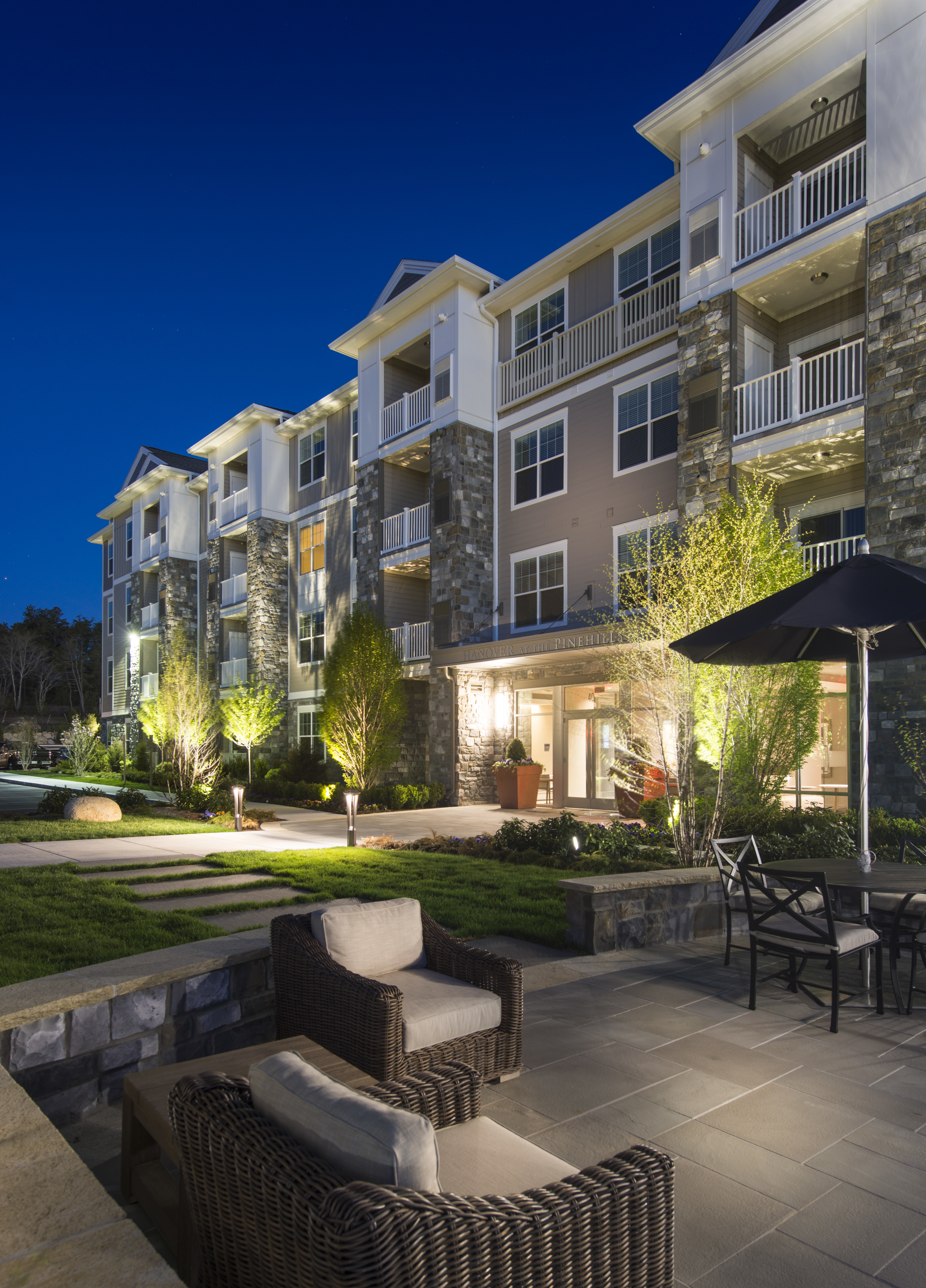 Patio - Marq at The Pinehills Luxury Apartments