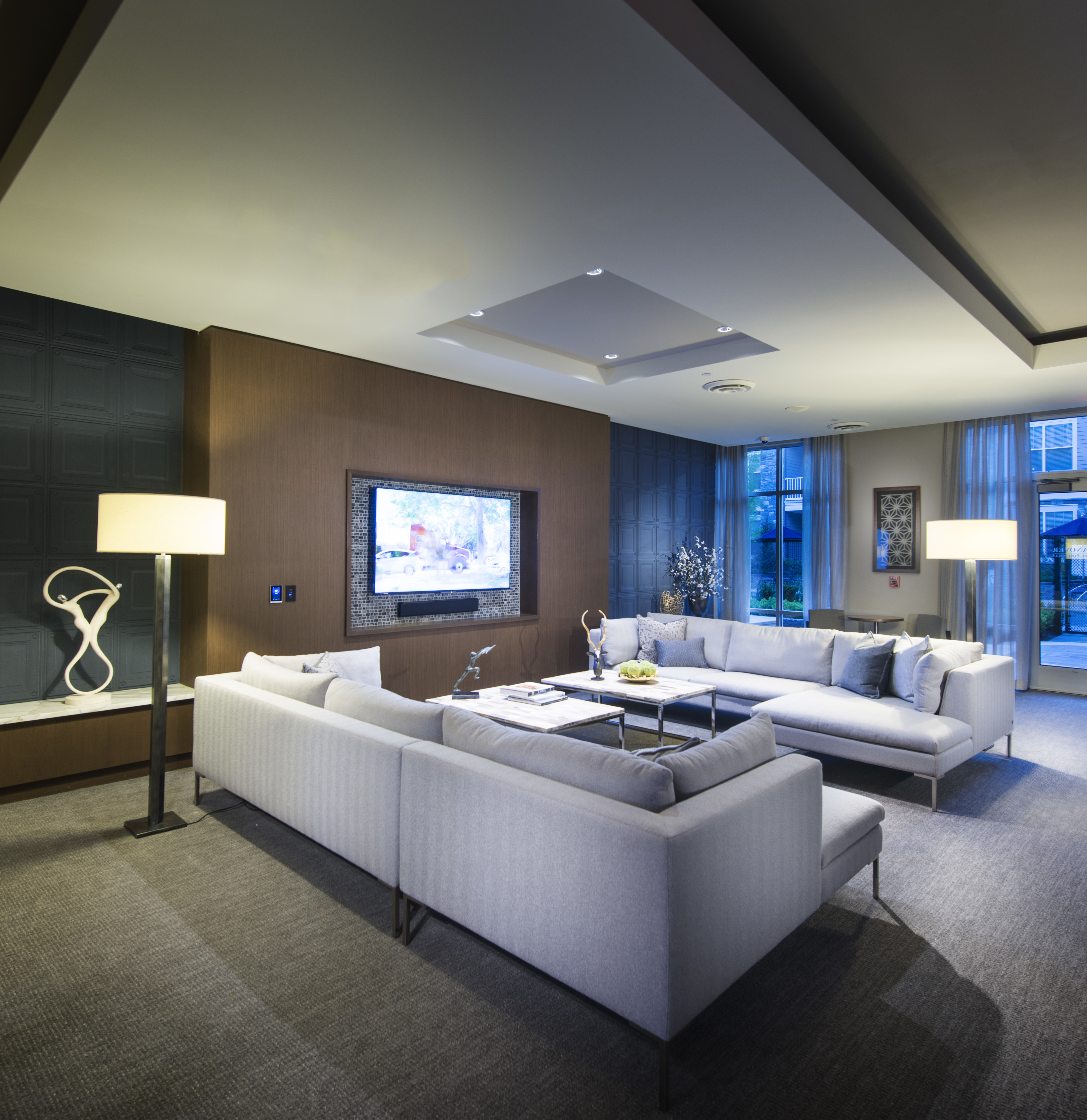 Relax in the Club Room - Marq at The Pinehills Luxury Apartments