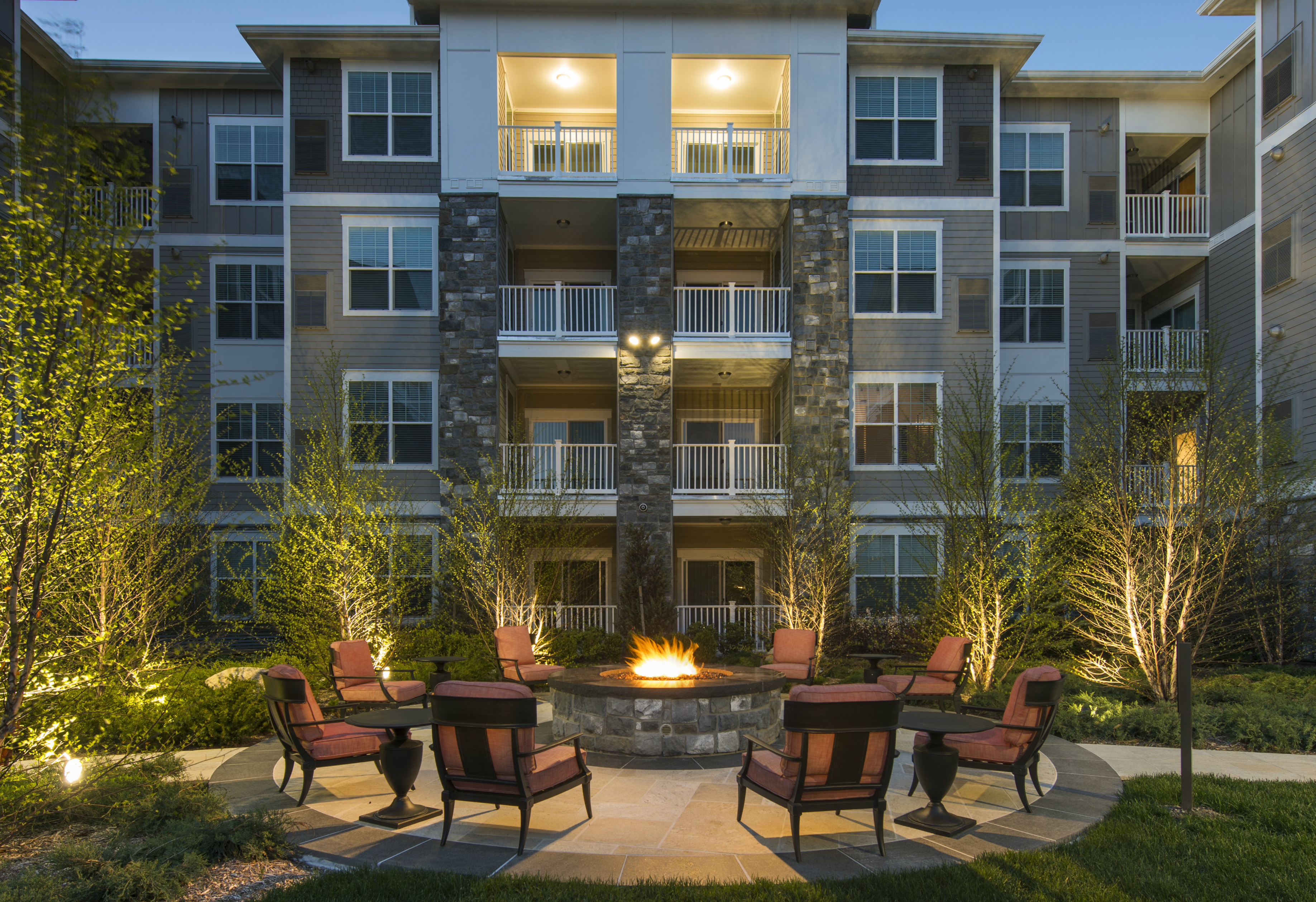 Marq at The Pinehills Luxury Apartments Firepit