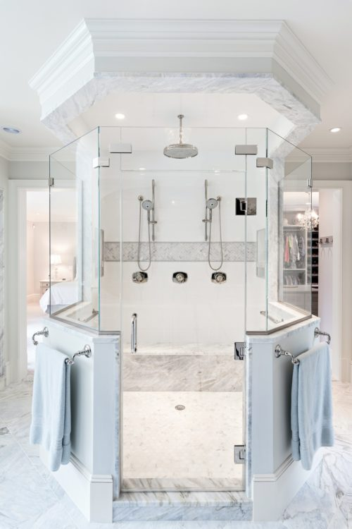 MacKenzie Brothers Ryecroft Custom Home Double Steam Shower