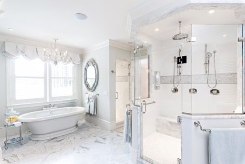 MacKenzie Brothers Ryecroft Custom Home Double Shower & Tub