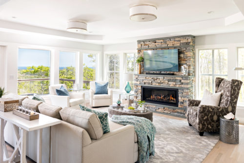 Dawn's Light Family Room by PSD