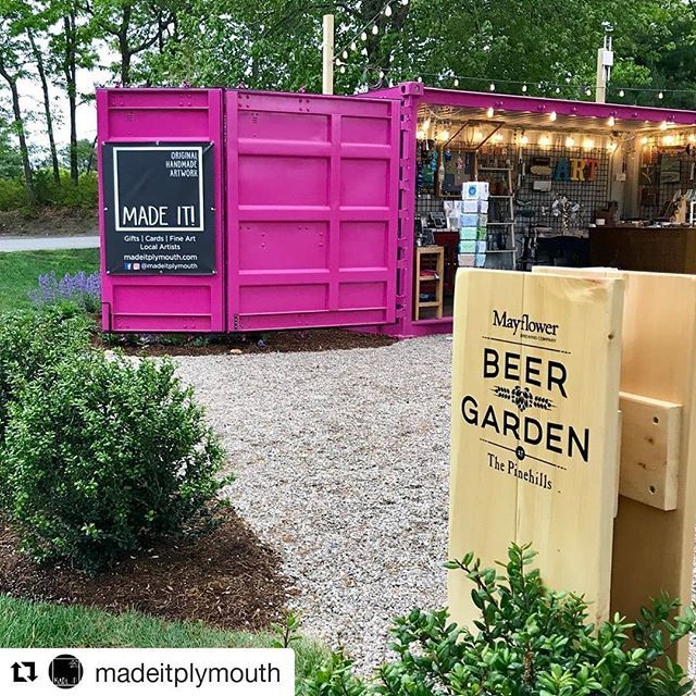 Pop up by Made it at the Mayflower Beer Garden at The Pinehills