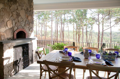 Whitman Homes Outdoor Pizza Oven and Dining