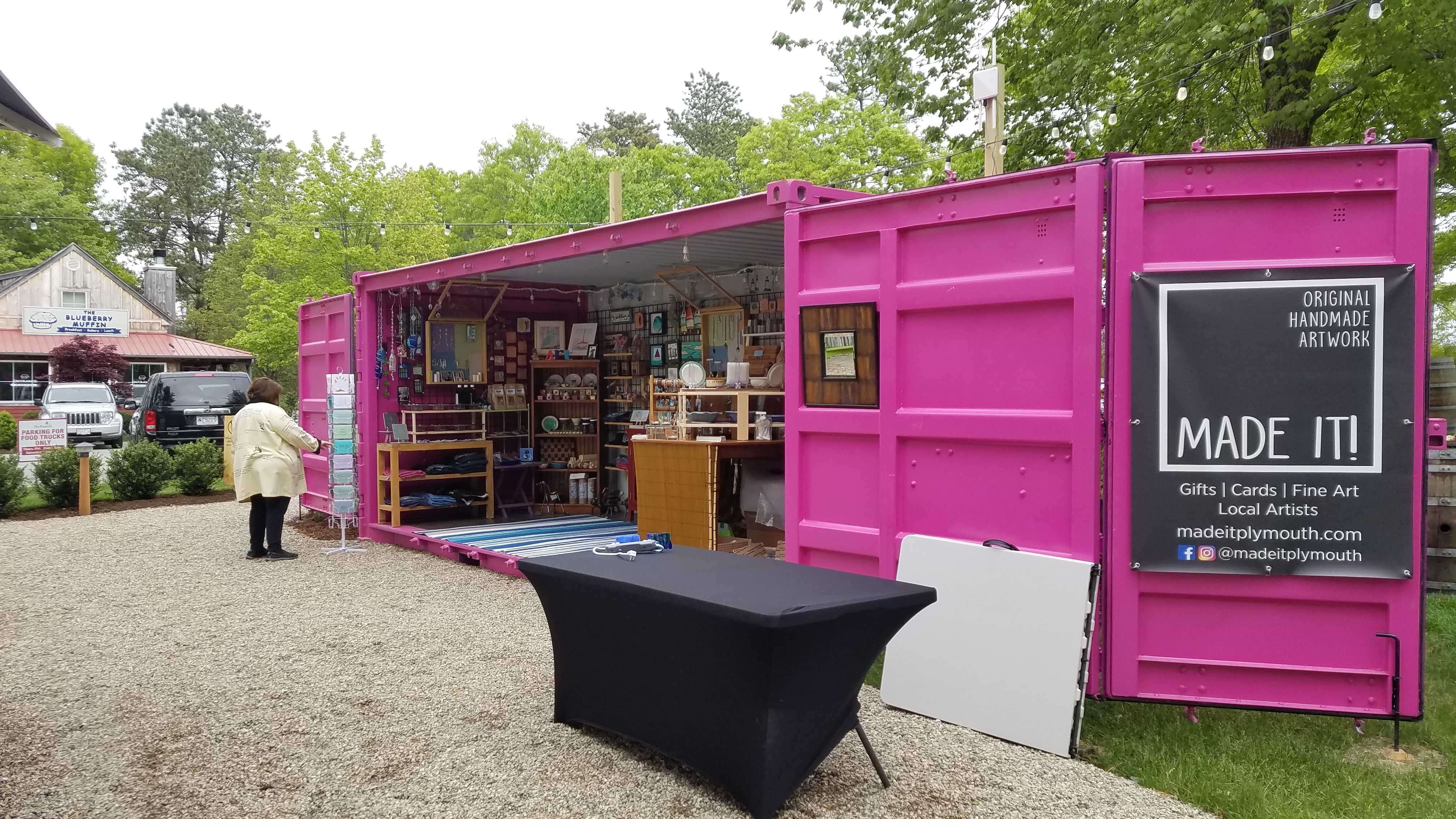 Look for the Made it! pop-up shop this summer on the Village Green